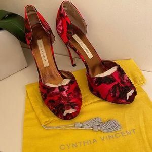 Cynthia Vincent Loreli Peep Toe D'Orsay Pump